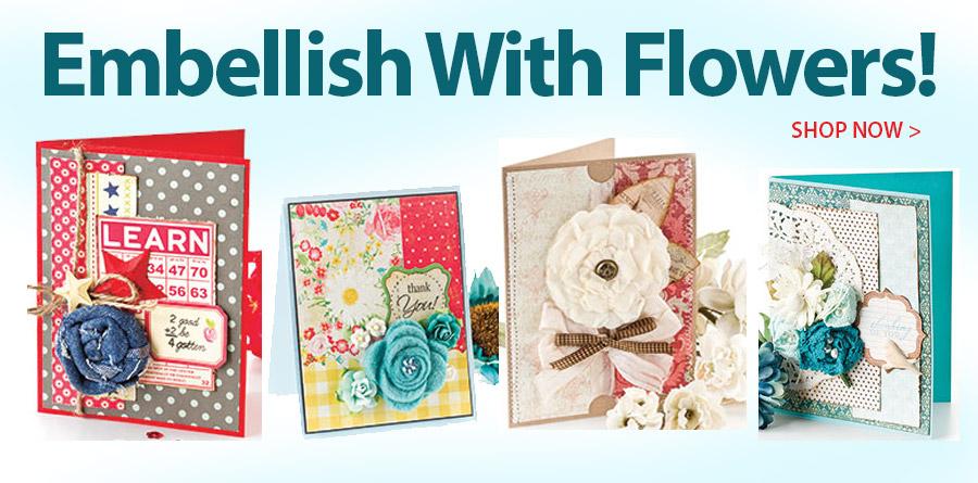 AG01403 Embellished Cards: Flowers