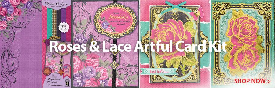 708996 Roses & Lace Artful Card Kit