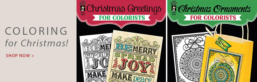 PD-709208-709209_2R Christmas Greetings and Christmas Ornaments for the Colorist
