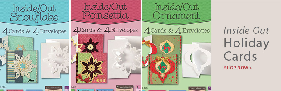 709205 Inside Out Snowflake Die Cut Cards