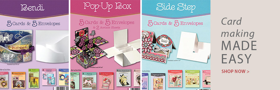 708971 Bendi Die Cut Cards & Envelopes 5/Pkg.