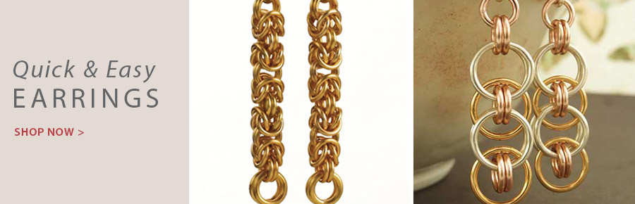 709012 Petite Byzantine Earrings Kit - Silver