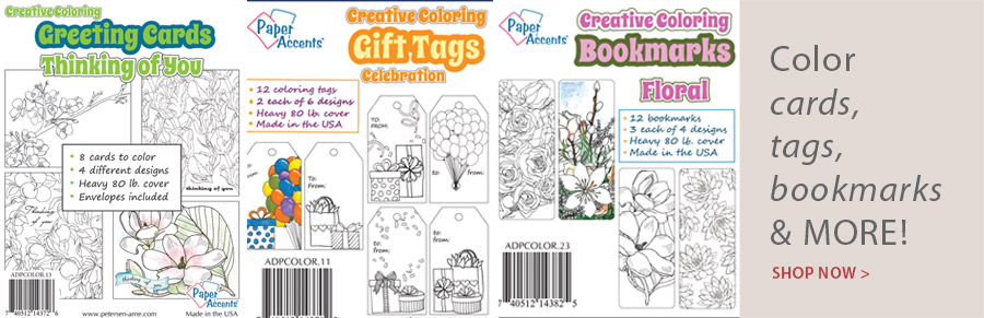 709062 Creative Coloring Thinking Of You Greeting Cards & Envelopes