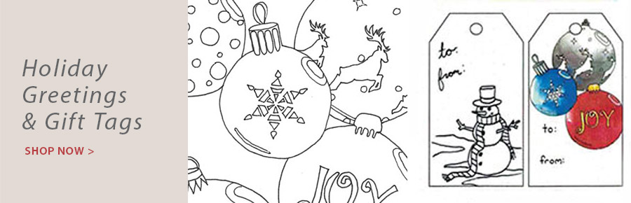 709215 Creative Coloring Holiday Greeting Cards & Envelopes