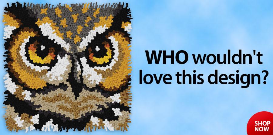 810551 Owl Latch Hook Kit