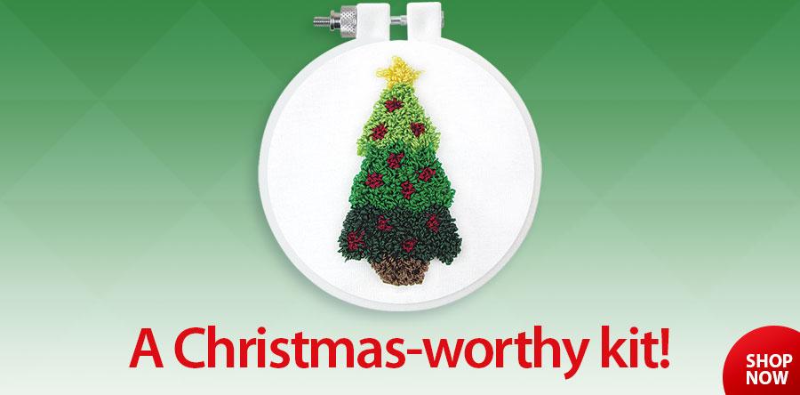 838512 Christmas Tree Punch Needle Kit