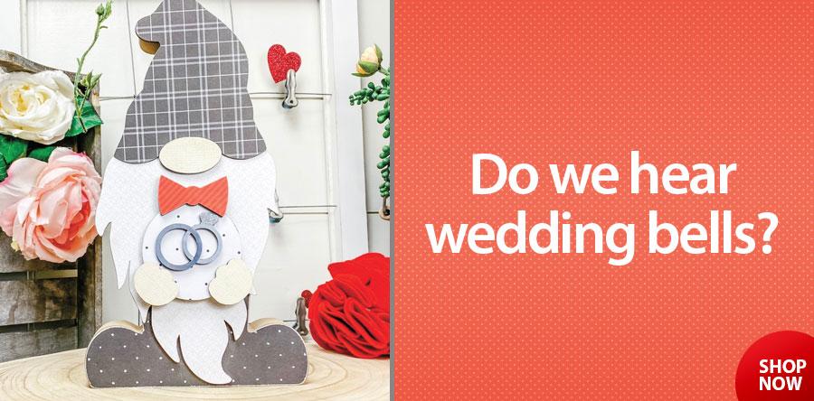 300035 Interchangeable Boy Gnome Wedding Rings Kit