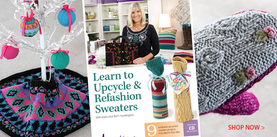 GC-GAV02D_1, Learn to Upcycle & Refashion Sweaters Class DVD