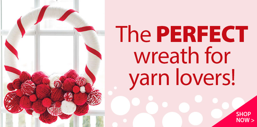 AK01006 Yarn Ball Wreath