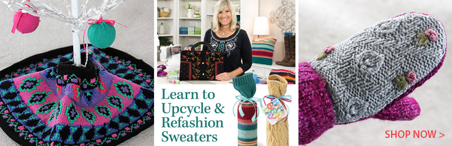 GAV02D Learn to Upcycle & Refashion Sweaters Class DVD