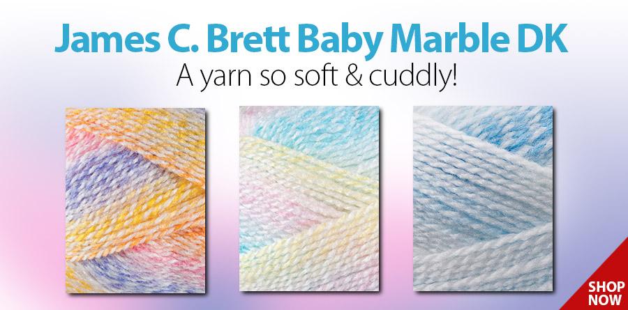 James C. Brett Baby Marble DK: 809389 Sand Pail