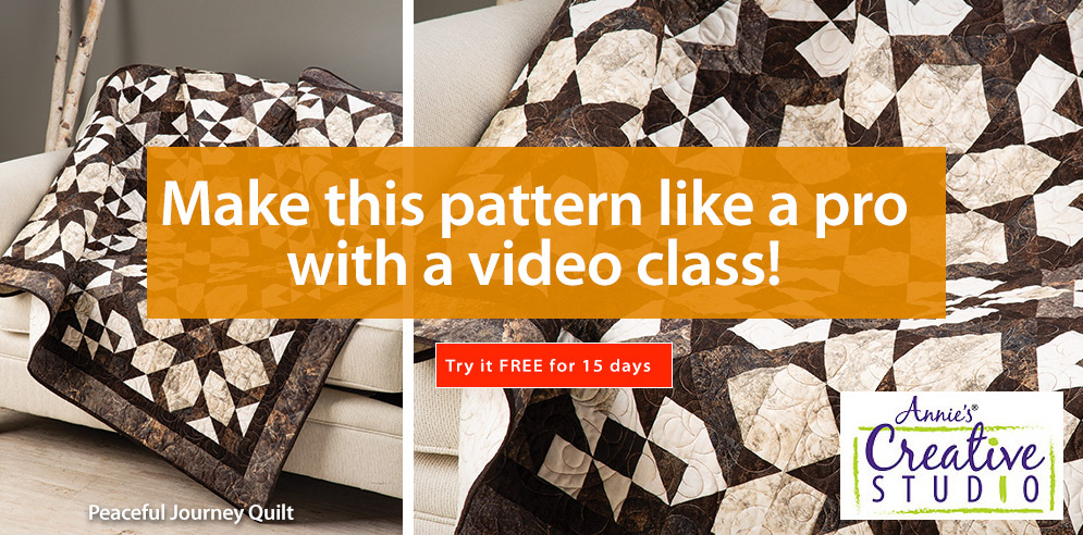 Make this pattern like a pro with a video class -- Try it FREE for 15 days!