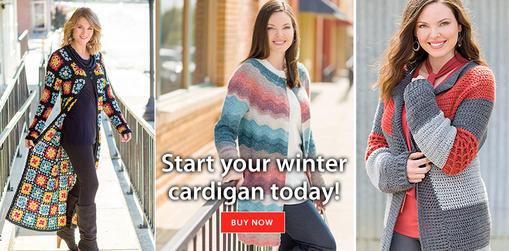 Start your winter cardigan today!