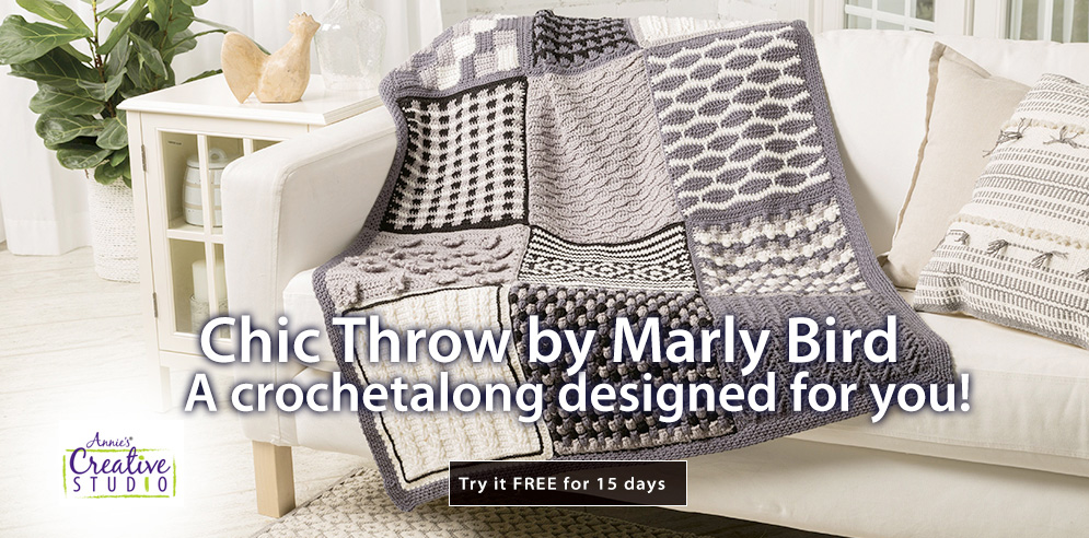 Chic Throw by Marly Bird -- a crochetalong designed for you!