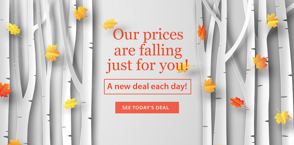 Our prices are falling just for you! A new deal each day! See today's deal!