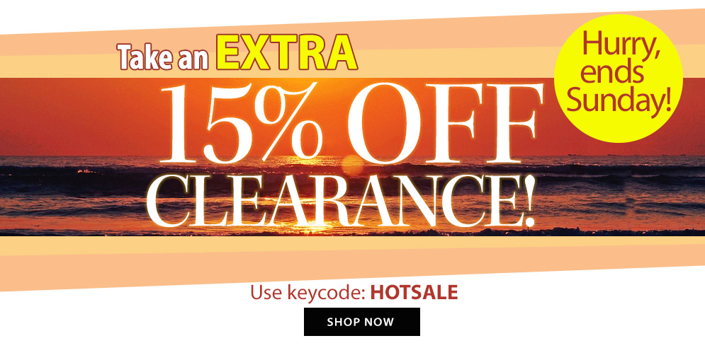15% OFF clearance!