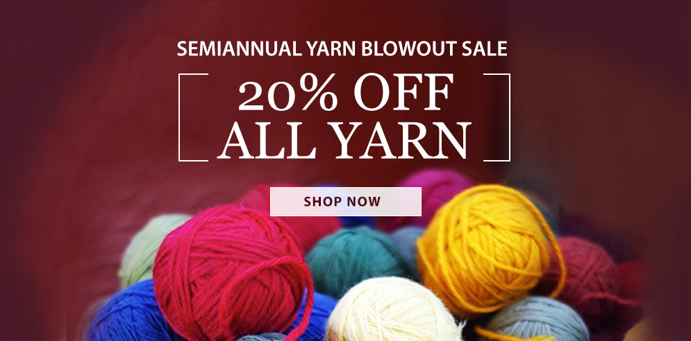 Yarn Sale! SHOP NOW