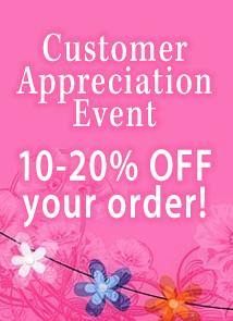 Customer appreciation (THANK10)