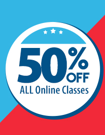 50% OFF ALL Online Classes