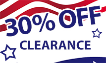 30% off clearance 4th july (Blues)