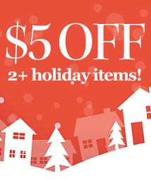 $5 OFF 2+ holiday items (JOLLY5)