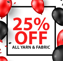25% off all yarn & fabric (OCTOBER)