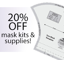 20% OFF mask kits & supplies (MASK20)
