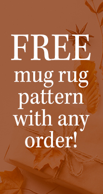 Free mug rug pattern with order (MUGRUG)