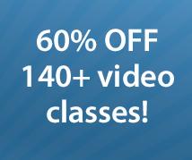 60% off classes (THISONE)