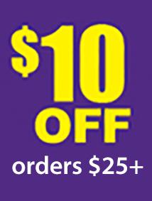 $10 off $25 (SUPER10)