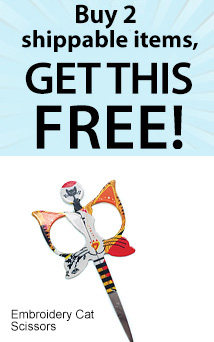 Free cat scissors with 2+ ship (CATSNIP)