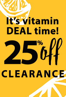 25% off clearance (vitamin)