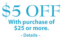$5 off any order of $25