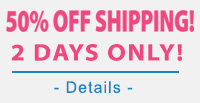 50% off Shipping!