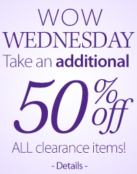 50% Off All Clearance Items!*