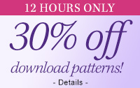30% off download patterns!*