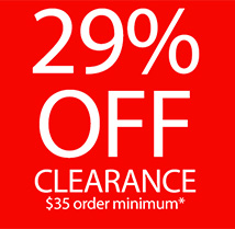 Extra 29% off clearance on $35+