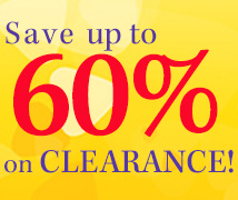 Up to 60% off clearance!