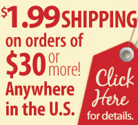 $1.99 SHIPPING on orders of $30