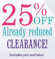 Save an extra 25% on clearance!