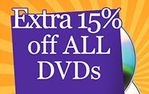 15% OFF DVDs