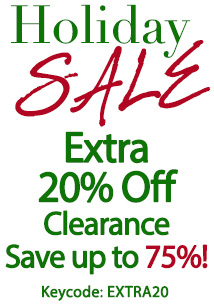 Extra 20% off clearance - holiday!