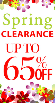 Spring Clearance 65%