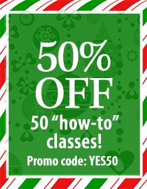 50% off 50 classes