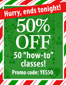 50% off 50 classes urgency