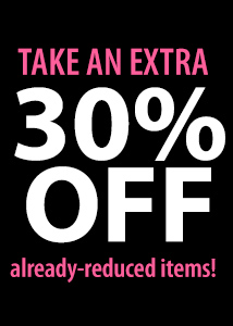 30% off sale items excl DL (SHINE)