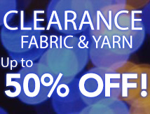 50% off fabric and yarn (yarnbric)