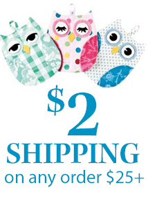 $2 shipping on $25+owl (TWOSHIP)