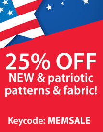 Memorial Day: 25% of red white & new