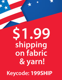 Memorial Day: $1.99 yarn/fabric shipping